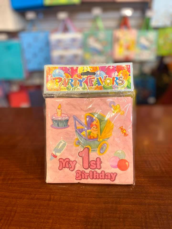 Party Napkins 1st Bday 20pc