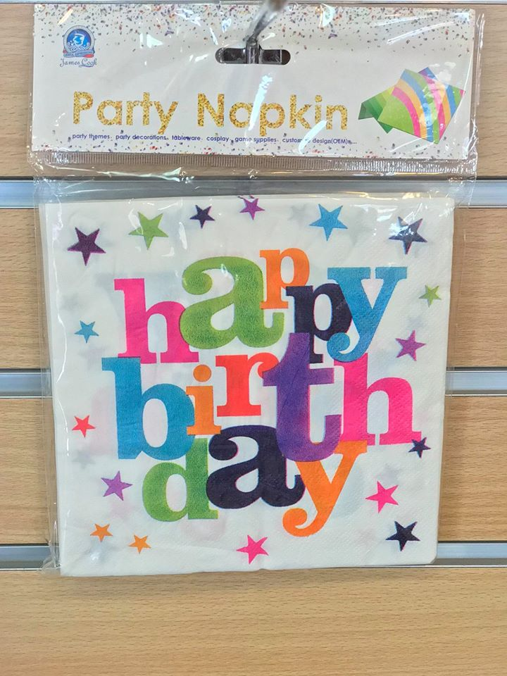 Party Napkins Happy Birthday