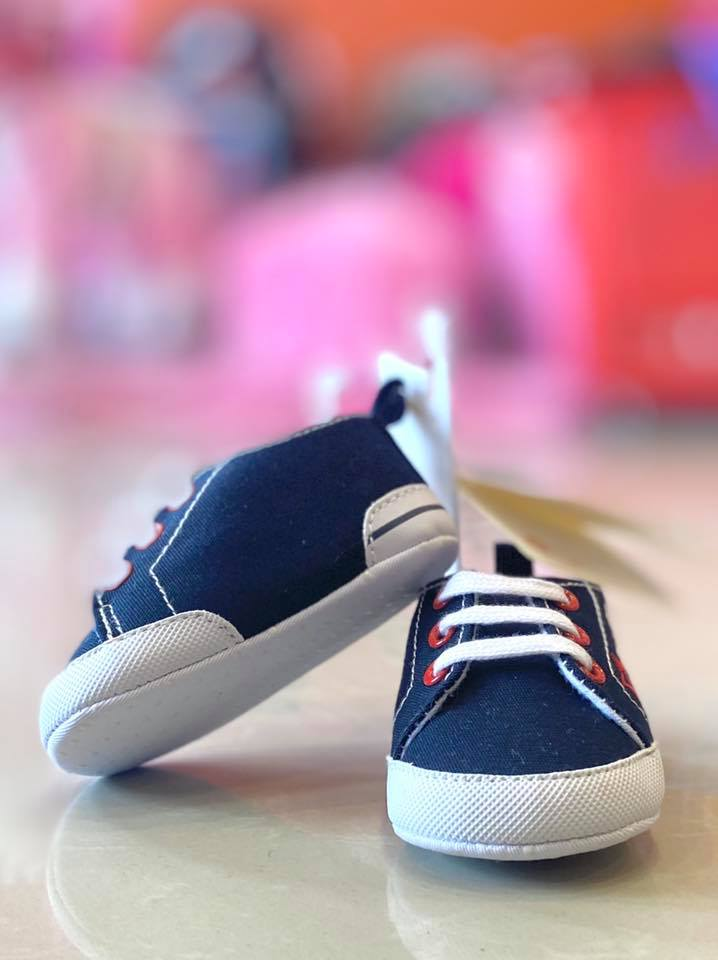 Shoe-Baseball Shoe Navy 2-4