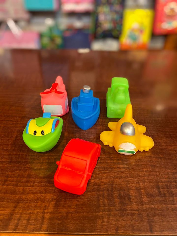 Squeaky Toy Boats 6pc
