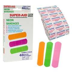 Bandages-40ct Neon Clear