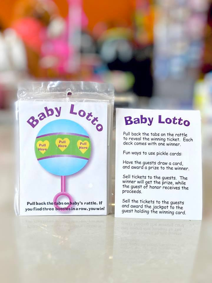 Baby Shower Lotto Game Card