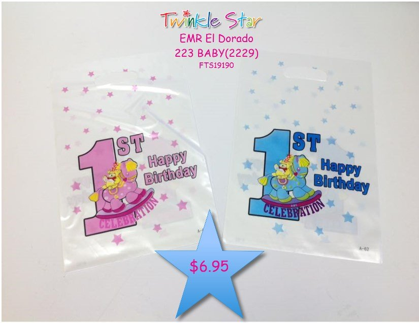 Party Bags My 1st Bday 6pc