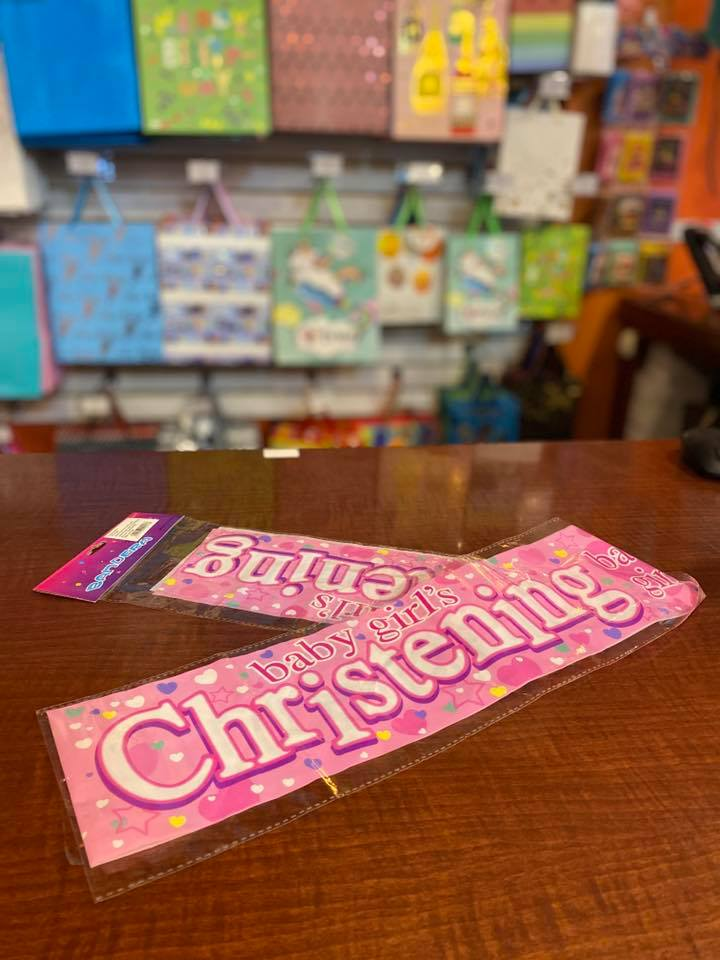 Party Banner Christening