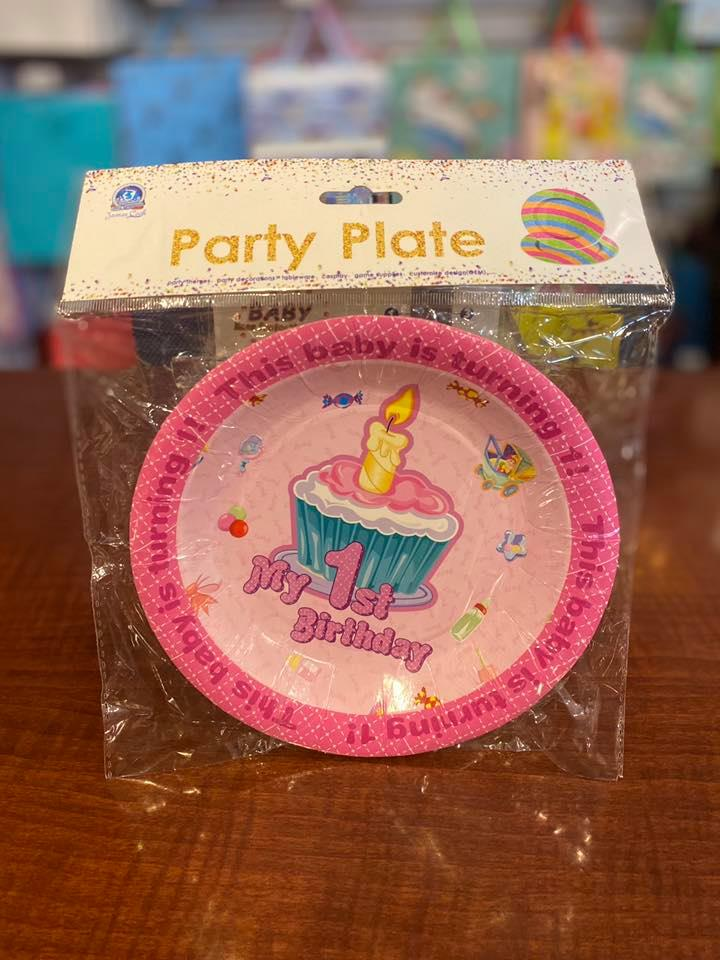 Party Tea Plates My 1st Bday