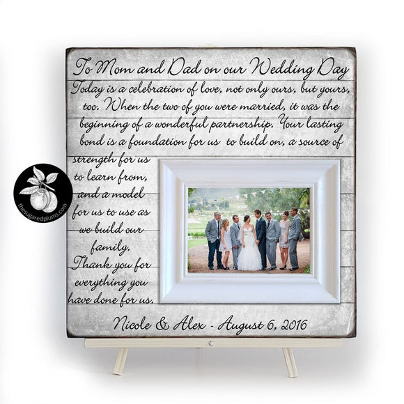 Wedding gift for parents, Parents of the Bride Wedding Gift, Picture Frame for Parents of the Groom,