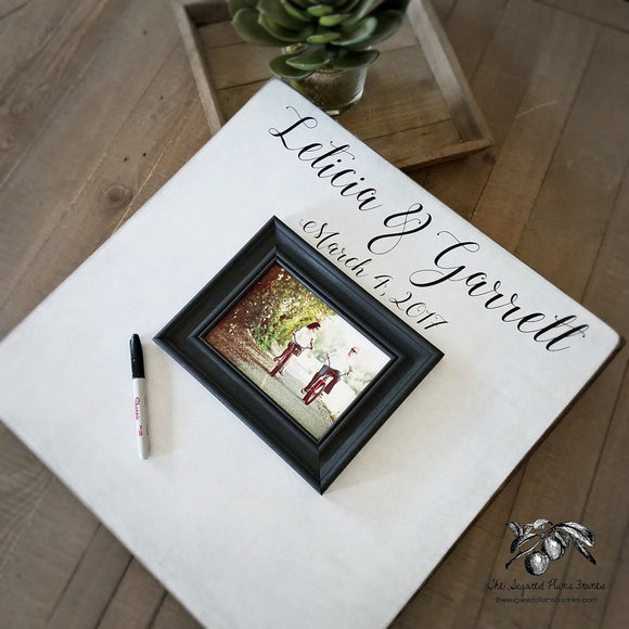 Alternative Wood Guest Book Frame