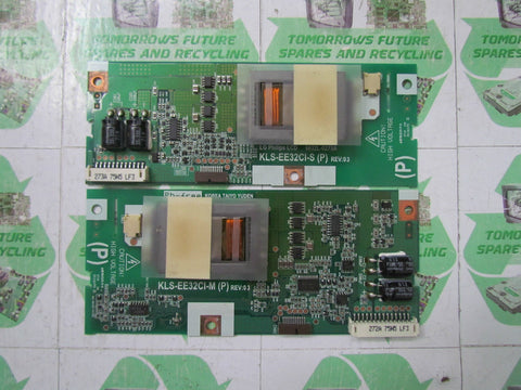 INVERTER BOARD 6632L-0272A + 6632L-0273A (MASTER&SLAVE) REV.3 - TEVION LCD3210ID - Express TV Parts UK
