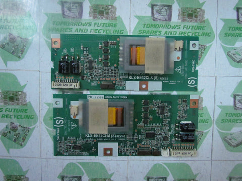 INVERTER BOARD 6632L-0211B+6632L-0212B (MASTER&SLAVE) - HUMAX LU32-TDR1 - Express TV Parts UK