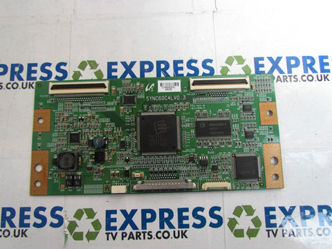 TCON BOARD SYNC60C4LV0.3 - JVC LT-40DG20J - Express TV Parts UK