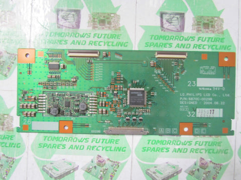 TCON BOARD 6870C-0029B - PHILIPS 32PF4320/10 - Express TV Parts UK