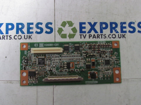 TCON BOARD V260B1-C01 - SONY KDL-26S3000 - Express TV Parts UK