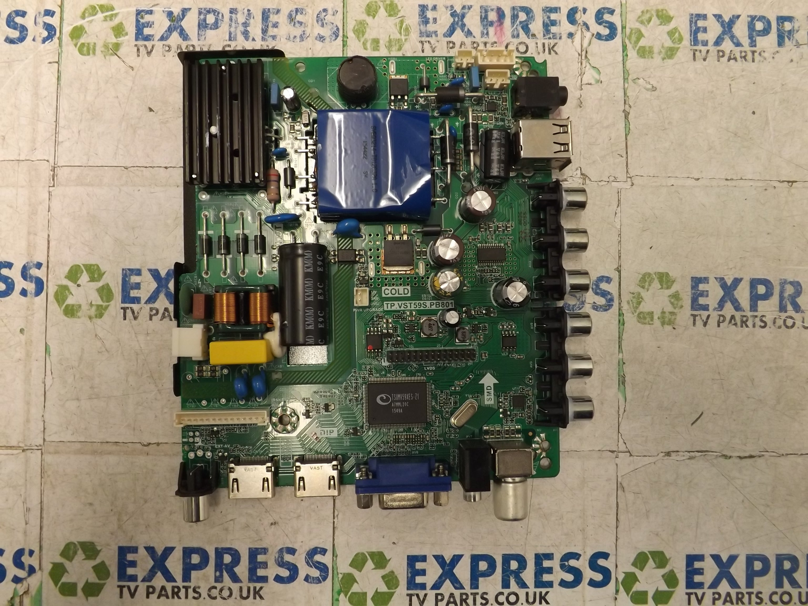 MAIN AV BOARD TP VST59S PB801 B15124636-0A00125 - Express TV Parts UK
