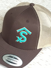 4f172a86c90 ... Livestock Brand Products Personalized Custom Farm and Ranch Puff Cap Hat