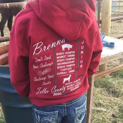4H awards, sweatshirt, youth, ffa, livestock show, gifts, gift