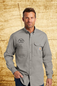 Carhartt Force Long Sleeve Shirt -Custom Embroidery- Livestock Brand - Business Logo