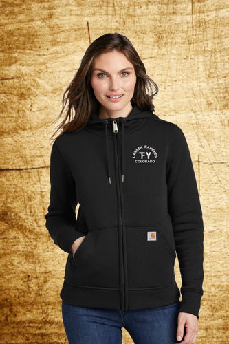 Ladies Carhartt Clarksburg Zip Hoodie -Custom Logo - Embroidered Ranch Brand - Farm and Ranch Clothing
