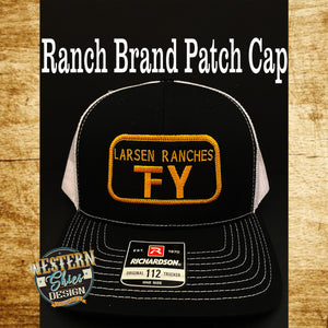 Richardson 112 Premium Custom Embroidered Trucker Hat -Snapback Hat - Livestock Brand Personalized- Farm and Ranch - Men's Custom Hat