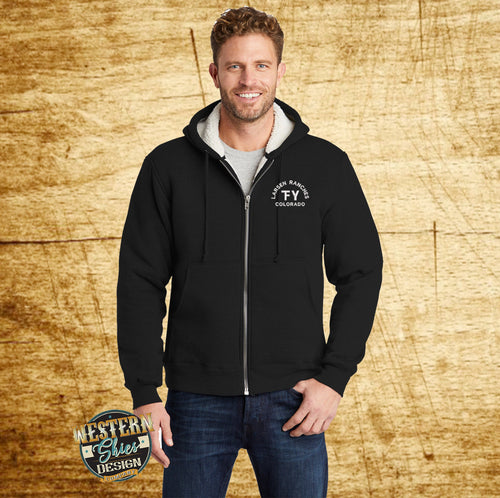 Custom Branded Cornerstone Sherpa Sweatshirt - Livestock Brand - Farm and Ranch Logo - Personalized - Custom Logo Apparel - Ranch Wear