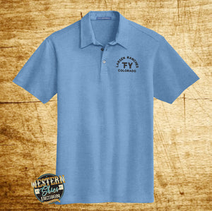 Custom Branded Polo Button Up Shirt - Livestock Brand - Farm and Ranch Logo - Personalized Polo - Custom Logo Apparel - Ranch Wear