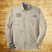 Custom Embroidered Eddie Bauer Fishing Shirt - Livestock Brand - Farm and Ranch Logo - Personalized - Custom Logo Apparel - Ranch Wear
