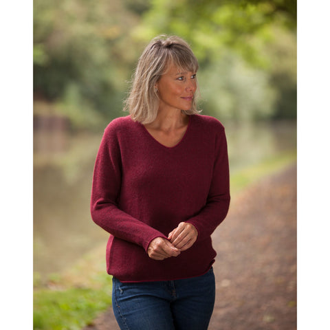 The Colour Twist Pure Cashmere Vee Neck - Kitted in Cashmere