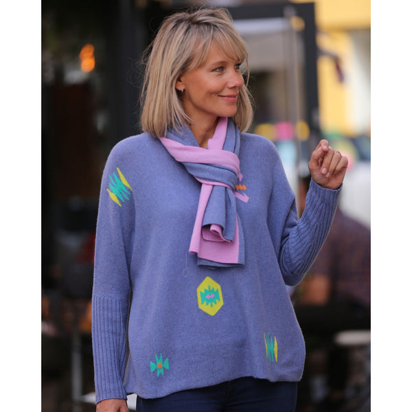 The Original Kilim Crew Neck with Rib Cuffs - Kitted in Cashmere