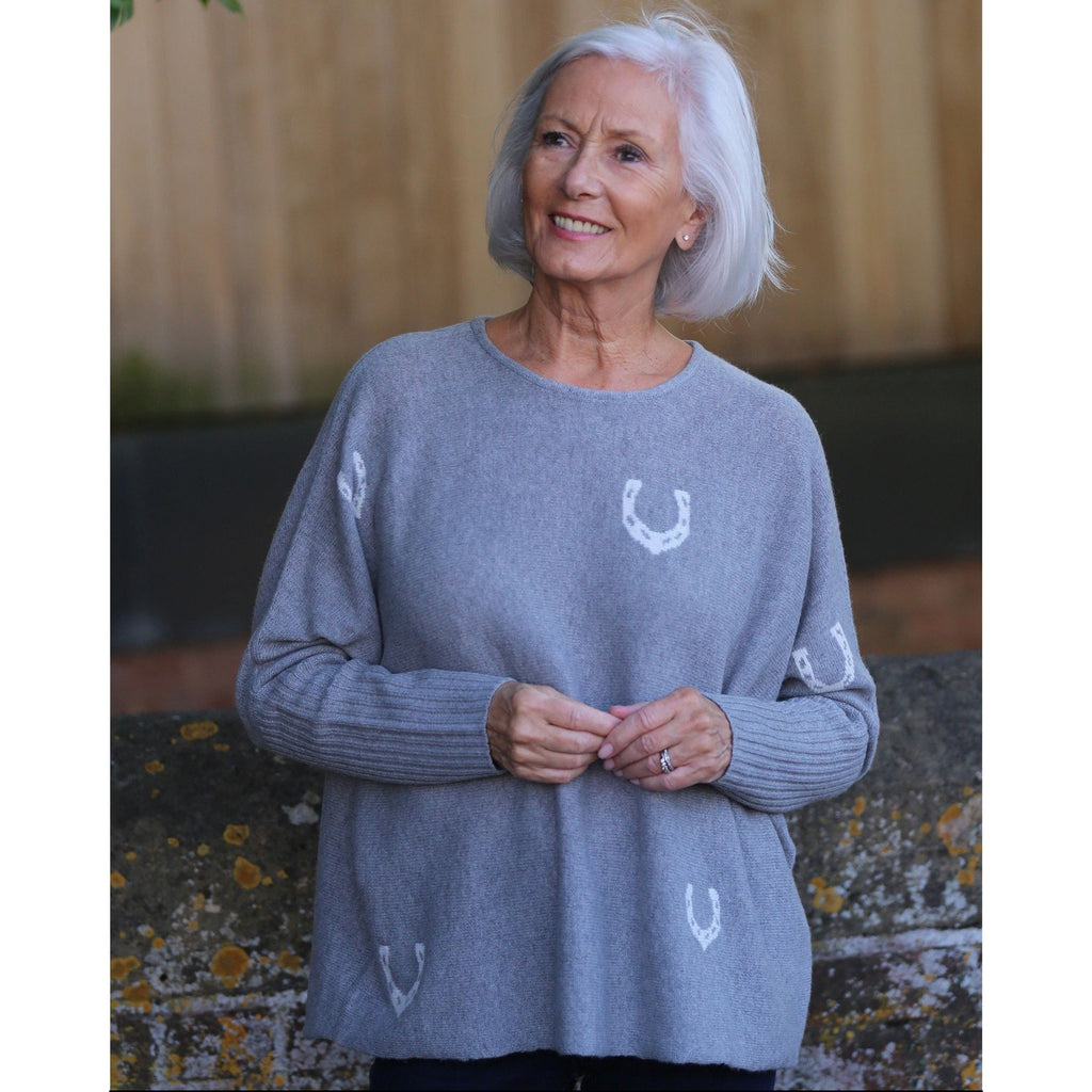"Original ""Lucky"" Crew Neck with Rib Cuffs - Kitted in Cashmere"