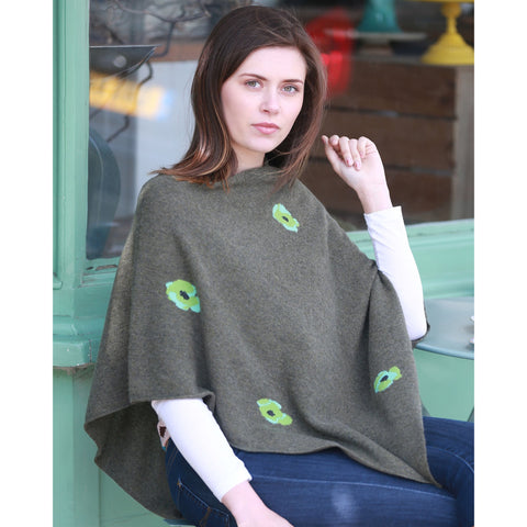 The Original Poppy Poncho - Kitted in Cashmere