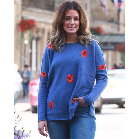 The Poppy Crew in Indigo Blue - Model wears One Size