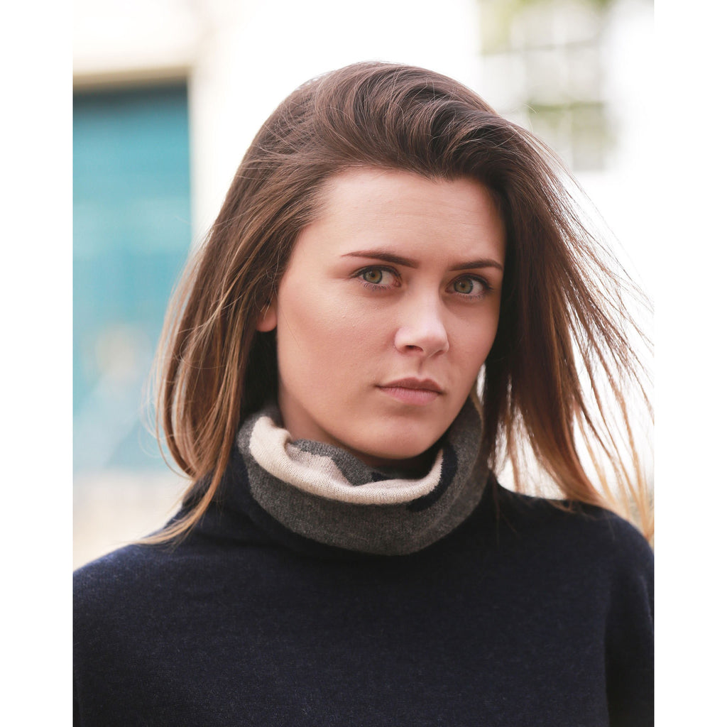 The Camouflage Intarsia Roll Neck