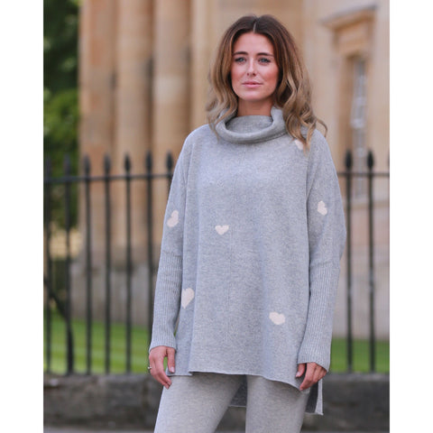 The Jericho Hearts Roll Neck - Kitted in Cashmere