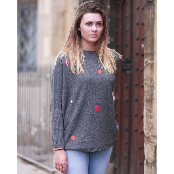 The Original Bridgewater Spotty Crew - Kitted in Cashmere