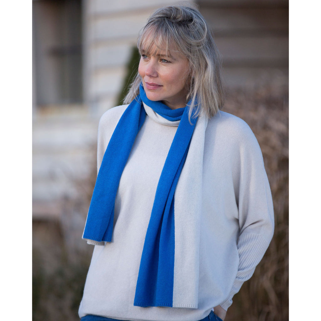 The Original Two Tone Scarf - Kitted in Cashmere