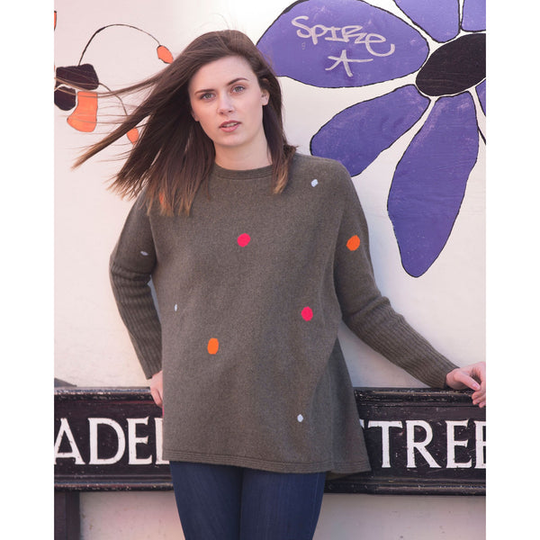 NEW The Original Bridgewater Spotty Crew - Kitted in Cashmere