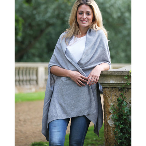 Pure Italian cashmere luxurious shawl scarf - Kitted in Cashmere