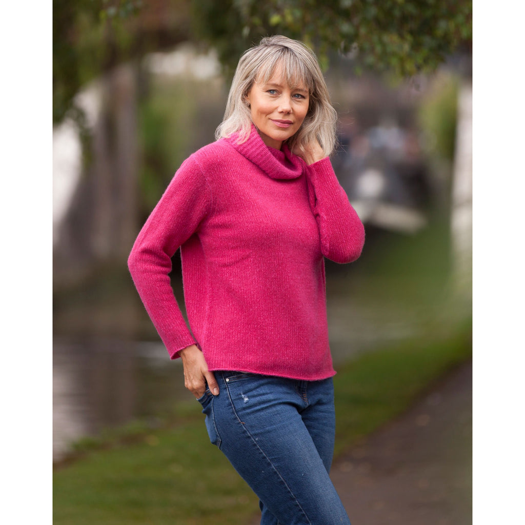 The Colour Twist Pure Cashmere Roll Neck