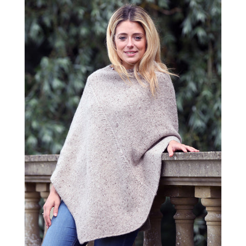 Tweed poncho - Kitted in Cashmere