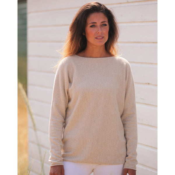 The Cashmere Sweatshirt Boat Neck - Kitted in Cashmere