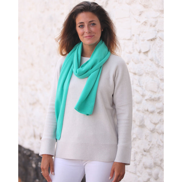 Lightweight Cashmere Mix Scarf - Kitted in Cashmere