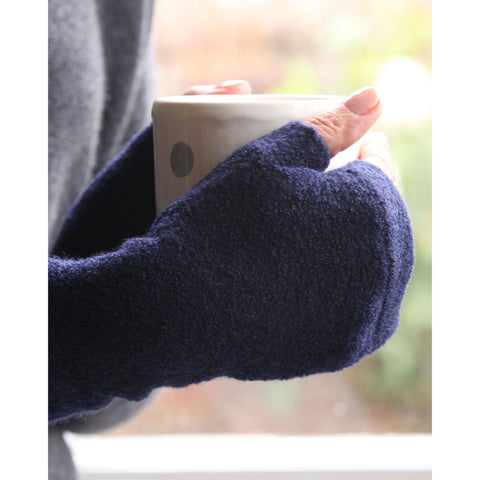 Plain Cashmere Stretch Handwarmers - Kitted in Cashmere