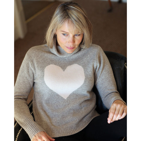 The Big Love Roll Neck - Kitted in Cashmere