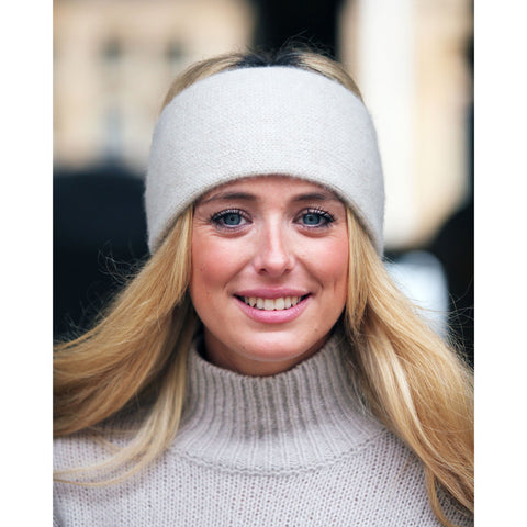 Pure Italian cashmere headband - Kitted in Cashmere - 1