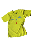 alley cat tee in chartreuse