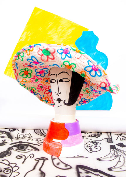 reversible sunhat (extra wide brim)