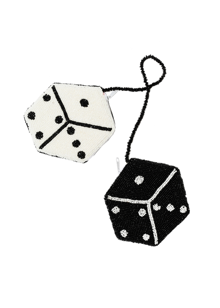 dice coin purse (black & white)