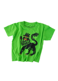 dumb lion tee in lime