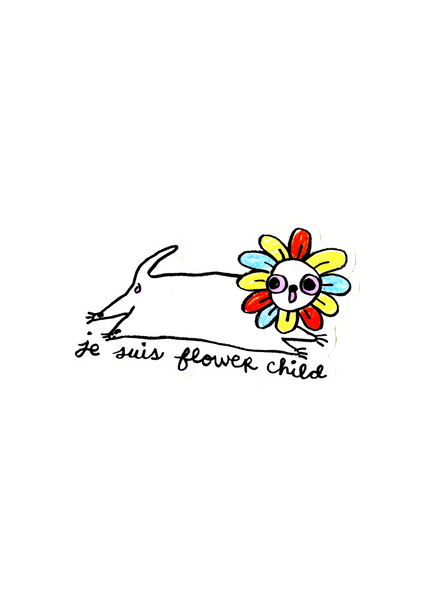 flower child sticker