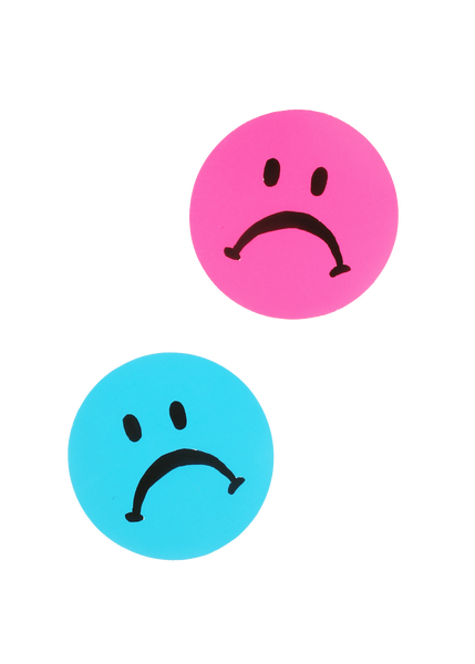 jumbo sad face sticker
