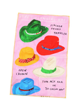 types of hats tea towel